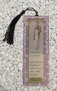 I have loved none but you - Persuasion - Jane Austen inspired inspired Metal Bookmark
