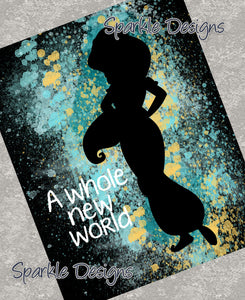 A whole new world - Jasmine / Aladdin 91 Art Print