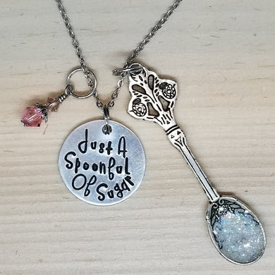 Just A Spoonful Of Sugar - Charm Necklace