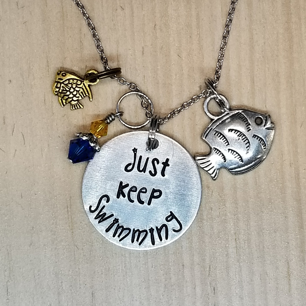 Just Keep Swimming - Charm Necklace