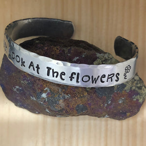 Just Look At The Flowers Cuff Bracelet