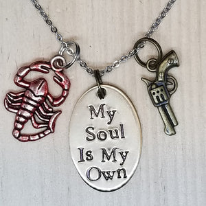 My Soul Is My Own - Charm Necklace