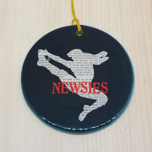 Porcelain ornament - Newsies inspired