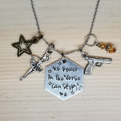 No Power In The Verse Can Stop Me - River - Charm Necklace