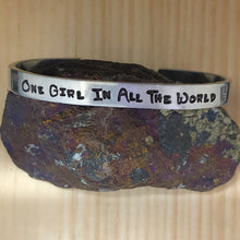 One Girl In All The World Cuff Bracelet