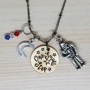 One Small Step - Charm Necklace
