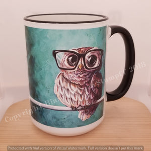 Intellectual Owl by Bianca Roman-Stumpff