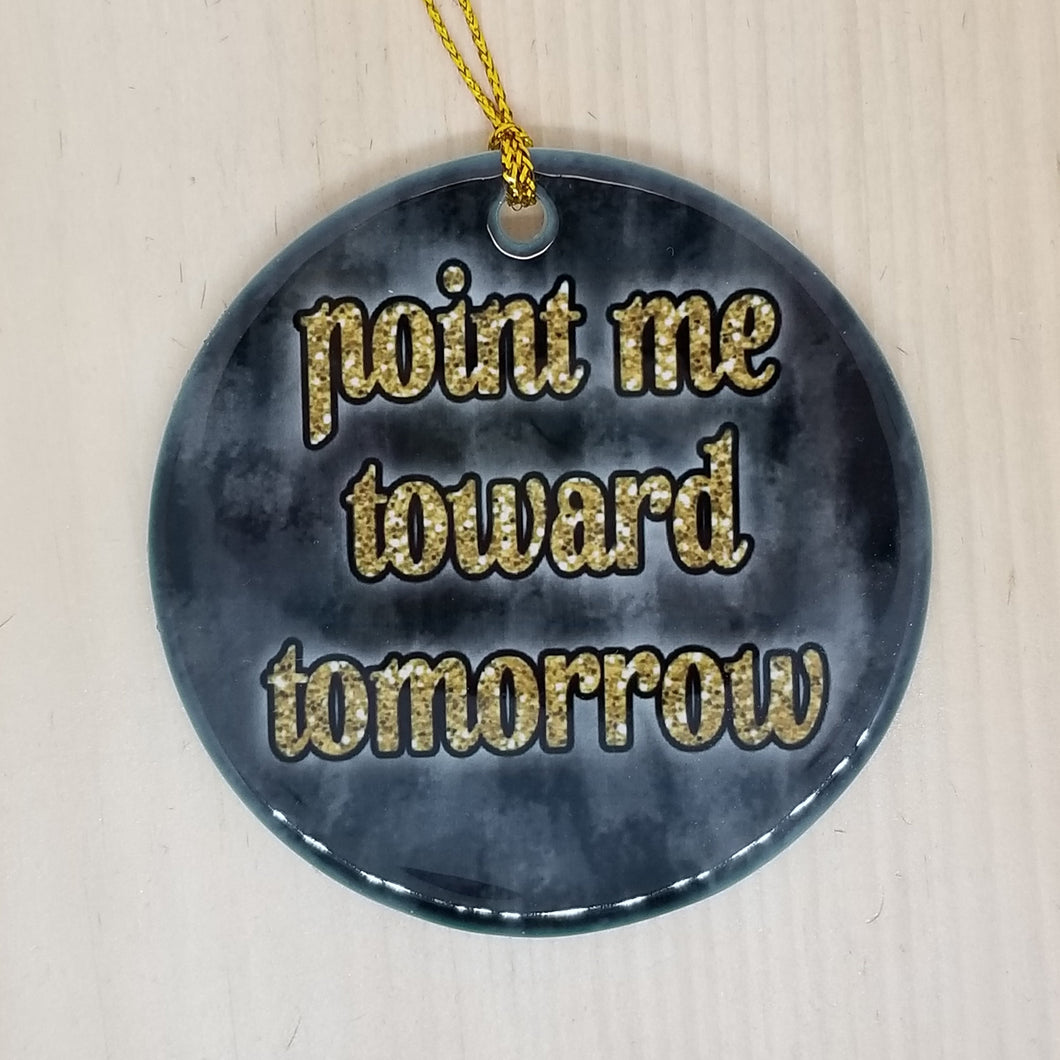 Porcelain ornament - A Chorus Line inspired - Point Me Toward Tomorrow