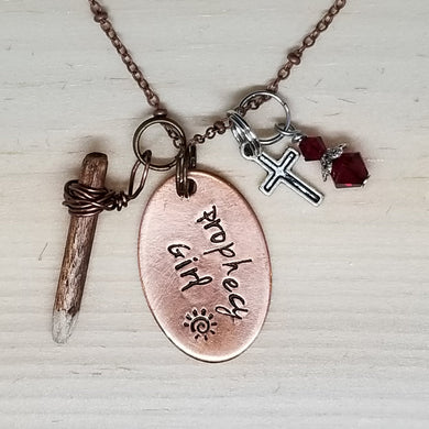 Prophecy Girl with Stake - Charm Necklace