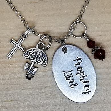 Prophecy Girl Charm with Umbrella - Charm Necklace