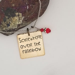 Somewhere Over The Rainbow - Pendant Necklace