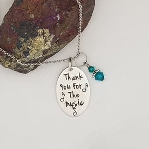 Thank You For The Music - Pendant Necklace
