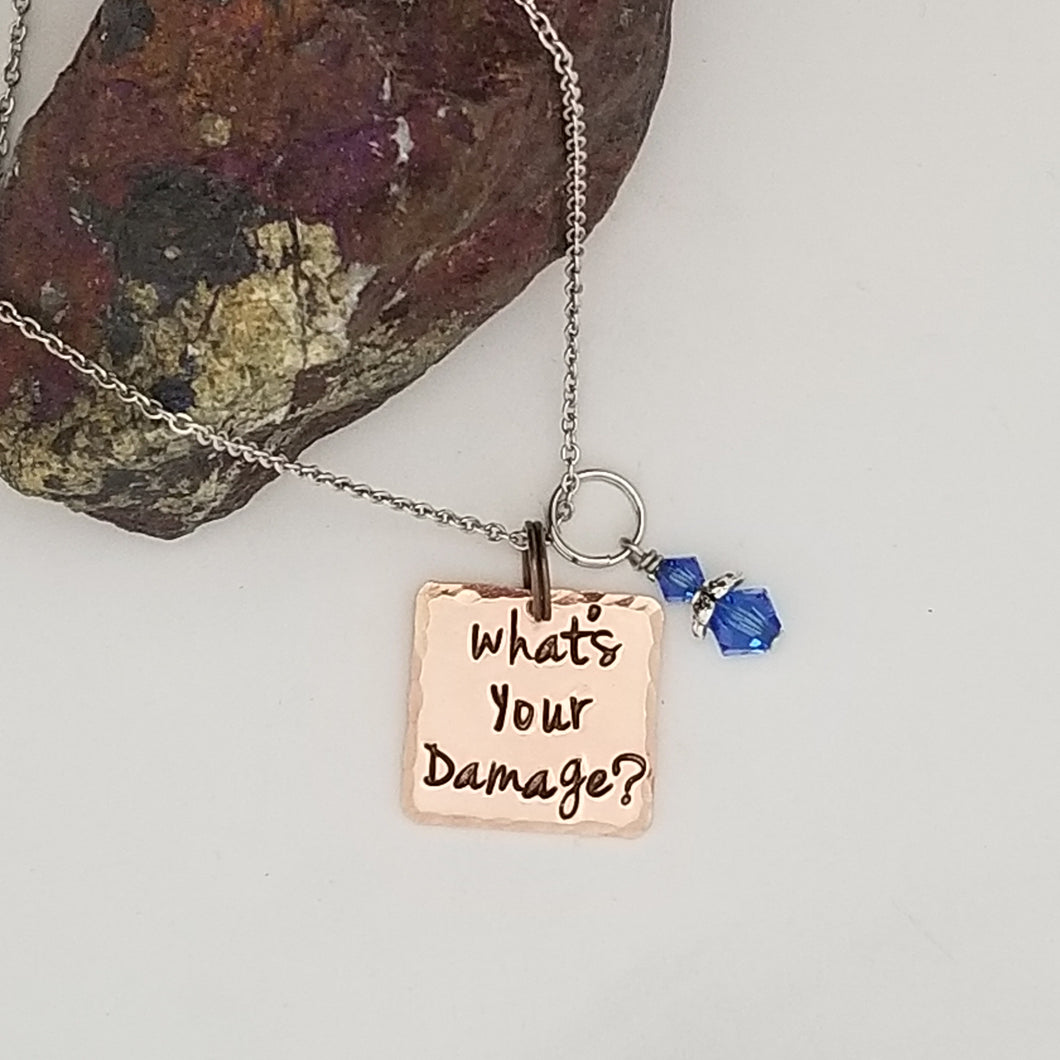 What's Your Damage? - Pendant Necklace