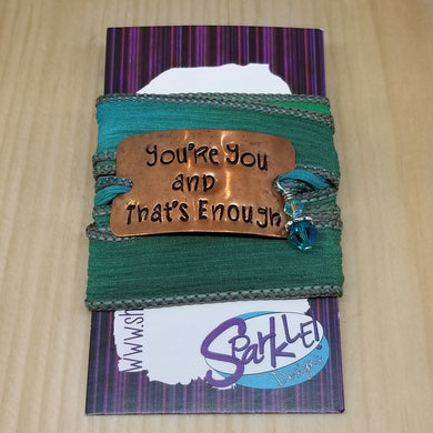 You're You And That's Enough wrap bracelet