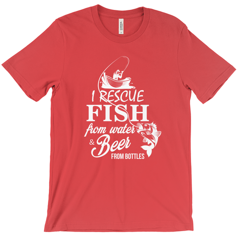 I Rescue Fish From Water And Beer From Bottles Men's T-Shirt