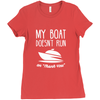 "Image of My Boat Doesn't Run On ""Thank You"" Women's T-Shirt"