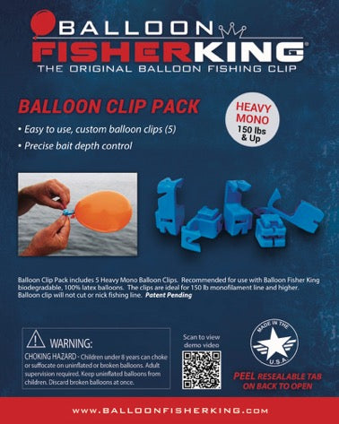 Balloon Fisher King - Balloon Clip Pack / Heavy Mono