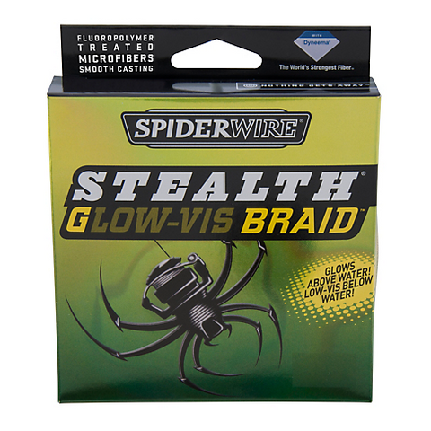 Spiderwire -Stealth Glow-vis Braid 80lb 125yd