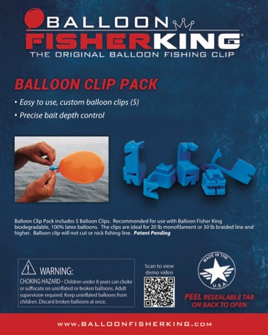 Balloon Fisher King - Balloon Clip Pack