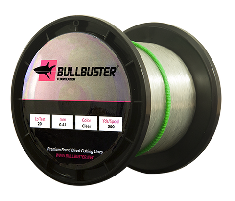 Bullbuster Fluorocarbon Fishing Line - 60 lbs - 0.77 mm