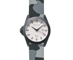 Sportfisher Black - White Dial - Gray Camo Strap