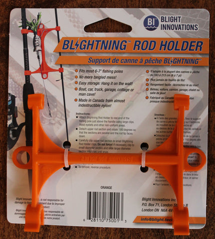 Blightning Rod Holder 010201 MH (Medium Heavy), Orange, Nylon