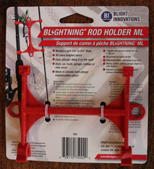 Blightning Rod Holder 020301 ML (Medium Light), Red, Nylon