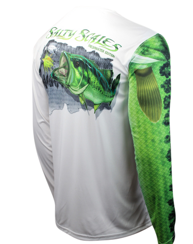 Largemouth Bass Long Sleeve Scale Sun-Shield Youth