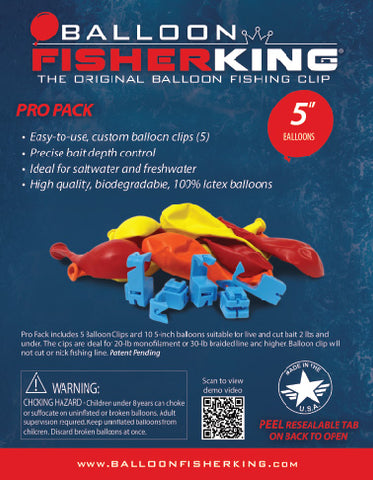 Balloon Fisher King - Pro Pack 5""
