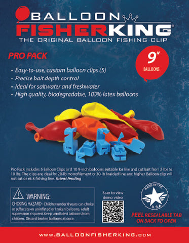 Balloon Fisher King - Pro Pack 9""