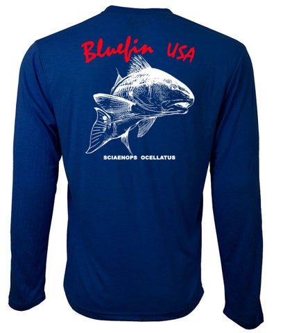 Blue Fin USA Red Drum Technical Tee