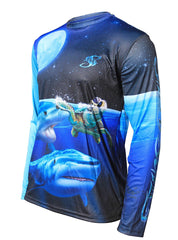Mens Shark Performance Long Sleeve Youth