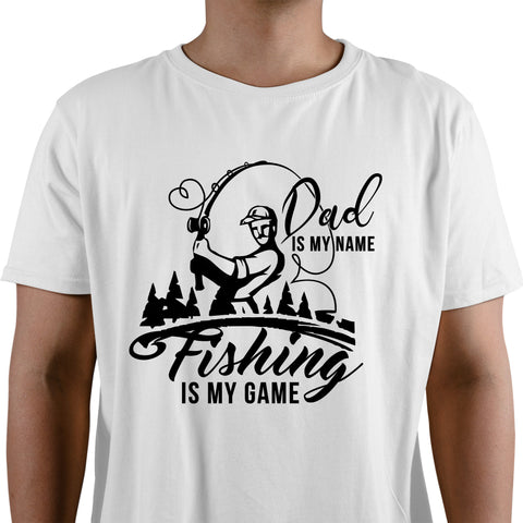 Dad Is My Name Fishing Is My Game Men's T-Shirt