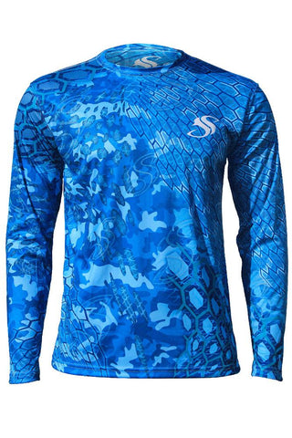 Mens Camo Fishing Sun Shirt