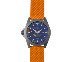 Sportfisher II Blue Moonphase - Orange Dive Strap