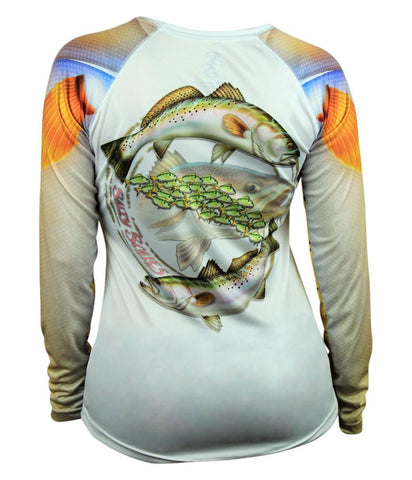Womens Speckled Trout Pink Scale Armor