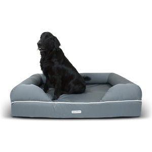 Daisy Elliott Luxury Waterproof Orthopaedic Memory Foam Dog Bed (Extra Large Slate Grey - 127x102cm)