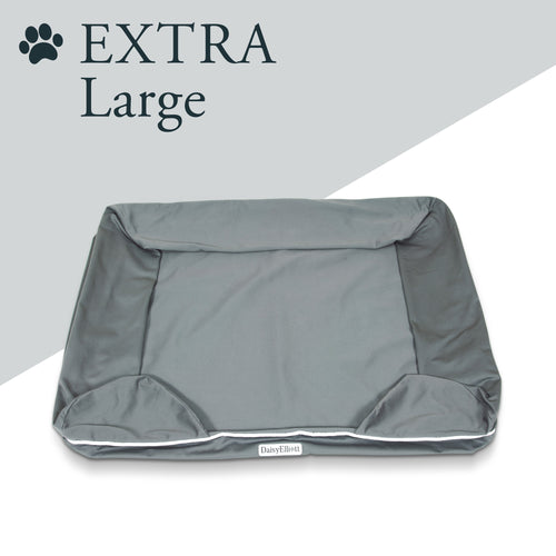 Daisy Elliott Replacement Cover for Luxury Dog Bed (Extra Large, Slate grey)