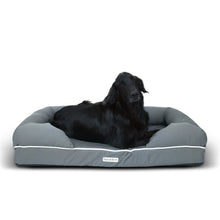 Daisy Elliott Luxury Waterproof Orthopaedic Memory Foam Dog Bed (Large Slate Grey - 112x87cm)