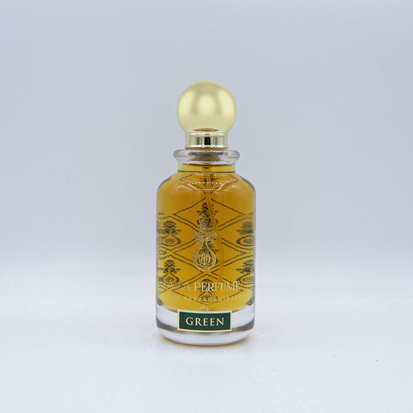 Green Leather Amber Perfume