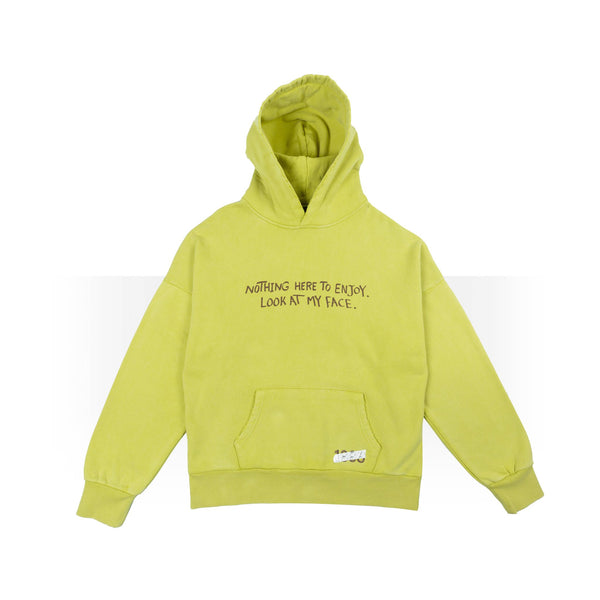 Nothing here to enjoy yellow hoodie