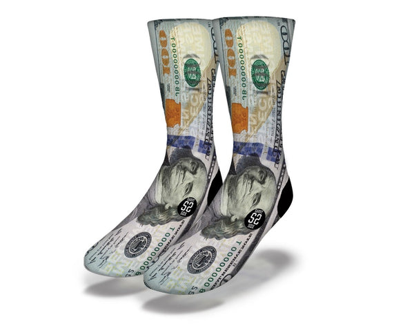 100 Dollar Bill socks