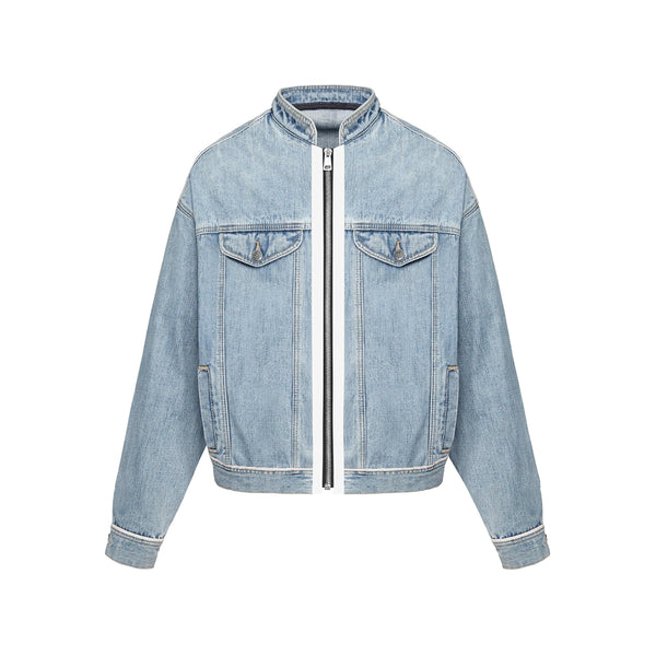 BASIC SELVEDGE DENIM JACKET - BLUE
