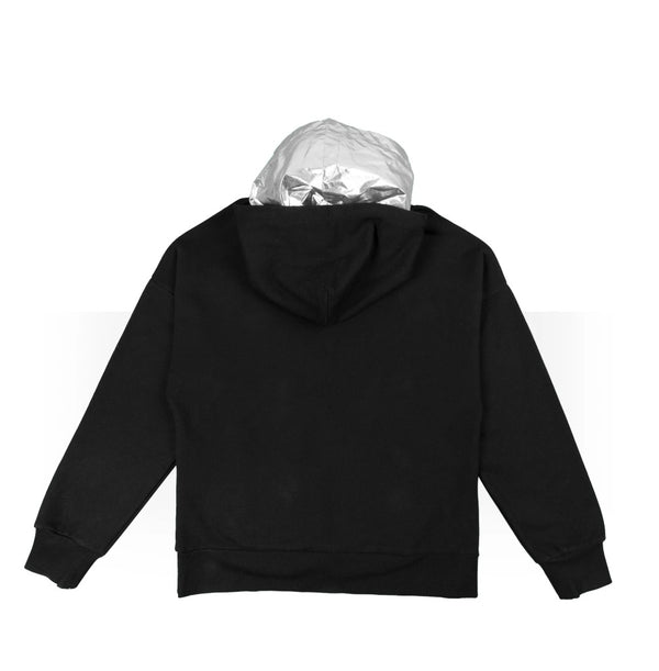 Double Hoodie Black/Astro silver