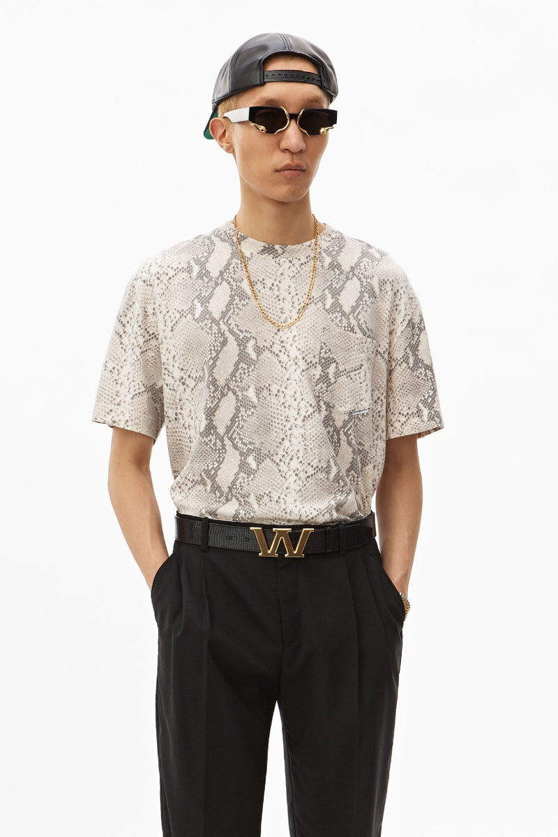 Allover Snake Print Hightwist T-shirt