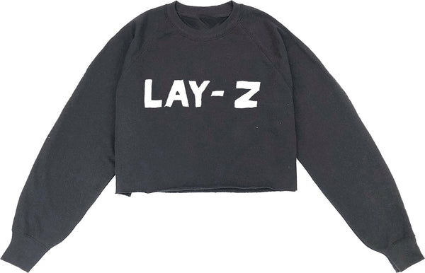 LAY Z Cropped Sweatshirt Black