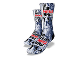 Eat Sleep Stone Wash socks