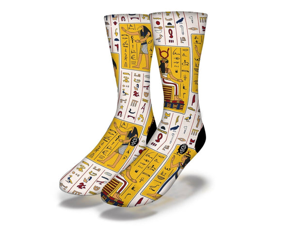 Egyptian Hieroglyphics 1 socks