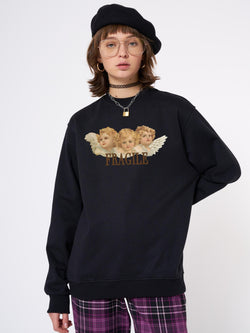 Fragile Angels Sweater In Black