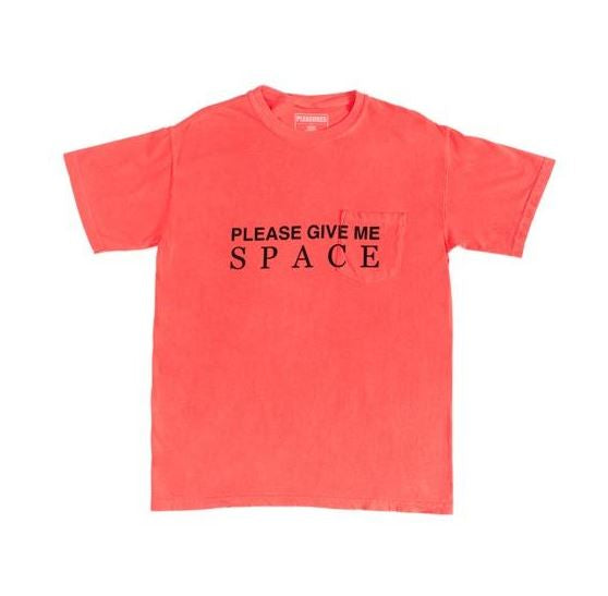 PLEASURES GIVE ME SPACE POCKET T-SHIRT